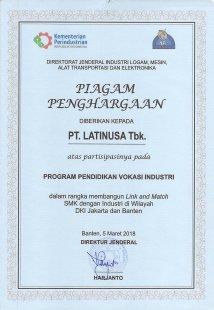 Sertifikat Program Pendidikan Vokasi Industri