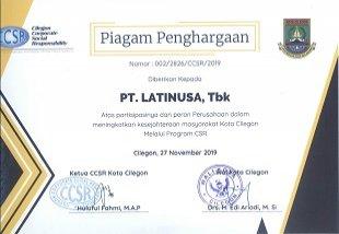 PIAGAM PENGHARGAAN PROGRAM CSR 2019